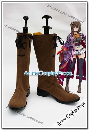 Hyakka Ryoran Samurai Girls Sen Tokugawa Cosplay Boots 01