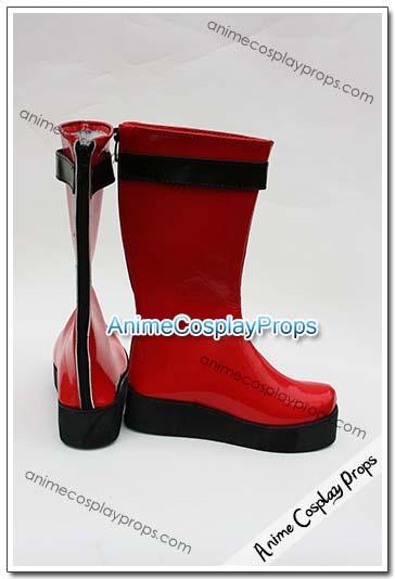 Samurai Sentai Shinkenger Red Cosplay Boots 01