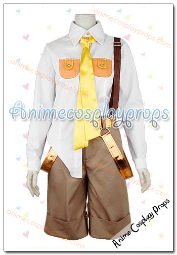 Vocaloid 2 Hitobashira Alice Kagamine Len Cosplay Costume