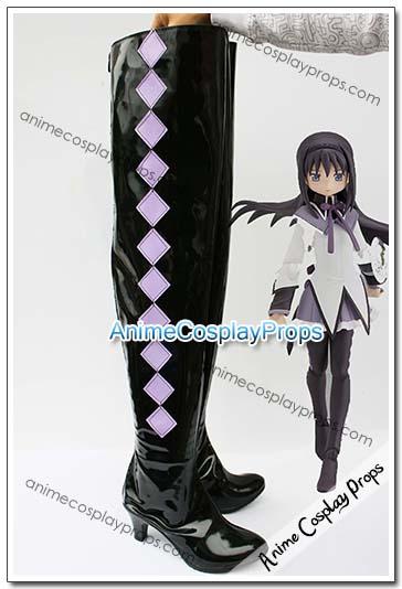 Puella Magi Madoka Magica Homura Akemi Cosplay Shoes 01