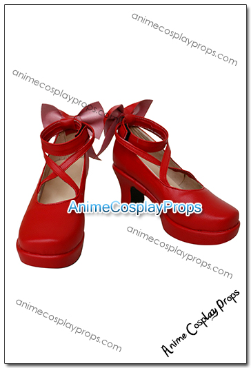 Puella Magi Madoka Magica Madoka Kaname Cosplay Shoes 01