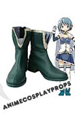 Puella Magi Madoka Magica Sayaka Miki Cosplay Shoes 01
