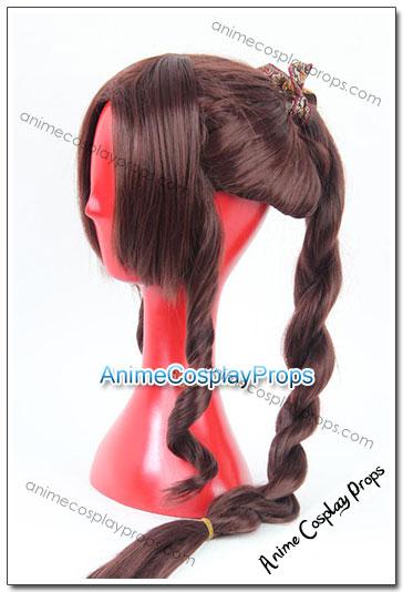 Final Fantasy Aerith Gainsborough Cosplay Wigs 01
