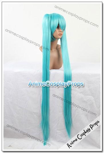 Vocaloid Hatsune Miku Cyan Blue Cosplay Wigs 01