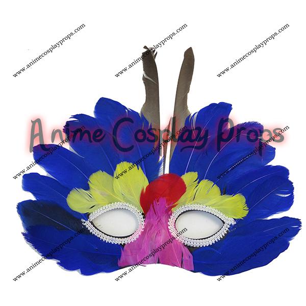 Feather Eyes Violet Mask 01